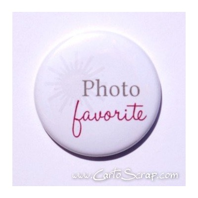 Badge 38mm - Photo favorite - Violet