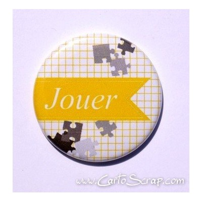 Badge 38mm - Fanion Jouer