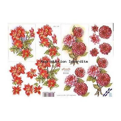 Image Carterie 3D - Fleurs rouges