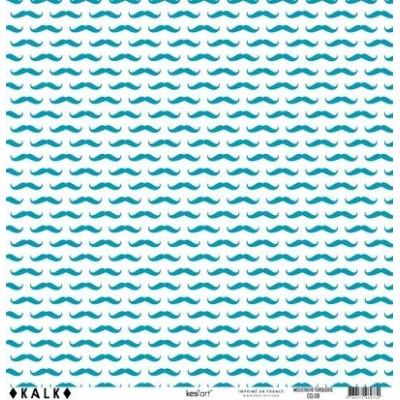 Papier KALK - Moustache Turquoise