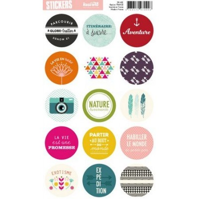 Stickers Ronds Kesi'Art - Like A Boho (français)