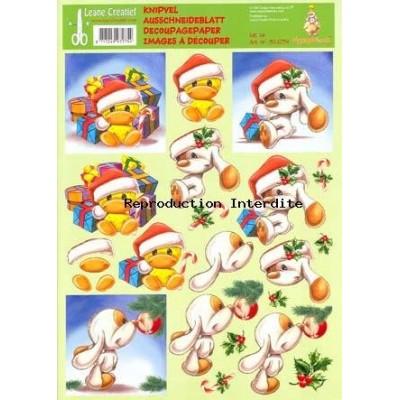 Image Carterie 3D - Mylo & canard de Noël