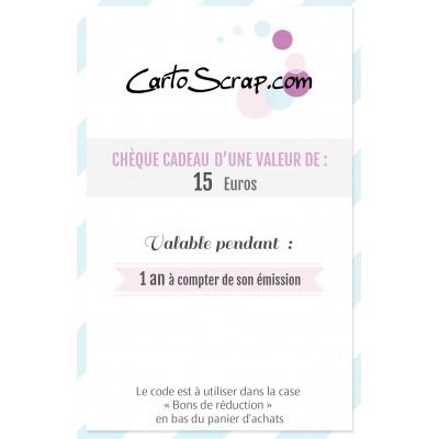 Chèque Cadeau de 15 euros