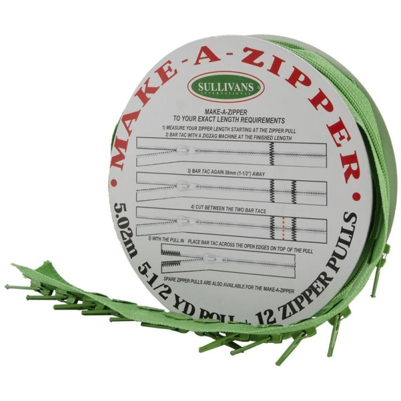 Rouleau de fermeture zippée - Vert Moyen
