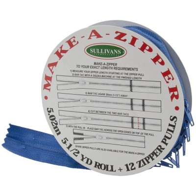 Rouleau de fermeture zippée - Bleu Marine