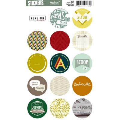 Stickers Ronds Kesi'Art - Edito (français)