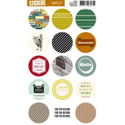 Stickers Ronds Kesi'Art - Edito (anglais)