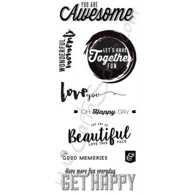 Tampons CartoScrap - Get Happy