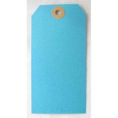 Etiquettes américaines 6x12 cm - Bleu (Lot de 10)