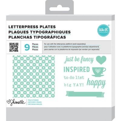 Plaques pour Letterpress - Shimelle True Stories