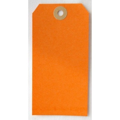 Etiquettes américaines 6x12 cm - Orange (Lot de 10)