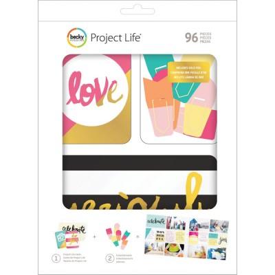 Kit Cartes & Embellissements Project Life - Mix & Match
