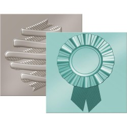 Set de 2 pochoirs de gaufrage We R - Ribbon