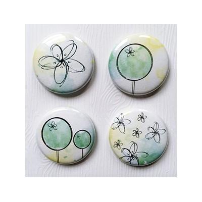 """Badges Lime Citron 1"""" - Fleuris"""