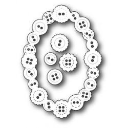 Die Poppystamps - Button Oval