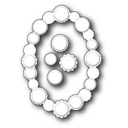 Die Poppystamps - Button Oval Contour
