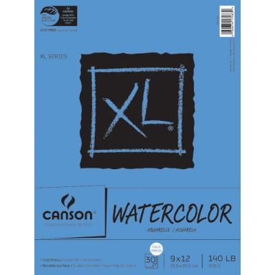 Bloc papier aquarelle Grain Fin Canson 300gr/m² 22.9x30.5 cm (30 feuilles)