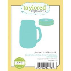 Die Taylored Expressions - Mason Jar Glass & Lid