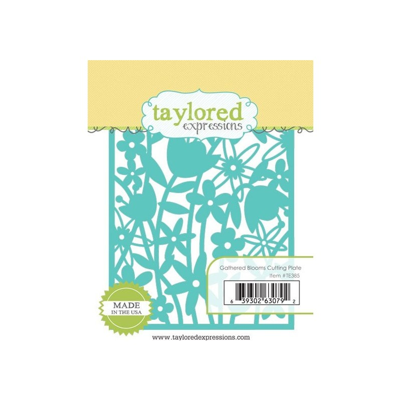 Die Taylored Expressions - Gathered Blooms Cutting Plate