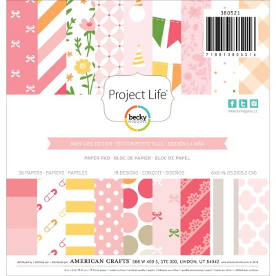 Mini Pack 15x15 - American Crafts - Project Life -  Baby Girl