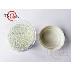 Glitter 13@rts - Paillettes fines blanc opalescent