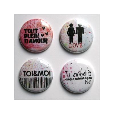 """Badges Lime Citron 1"""" - Tout Plein"""