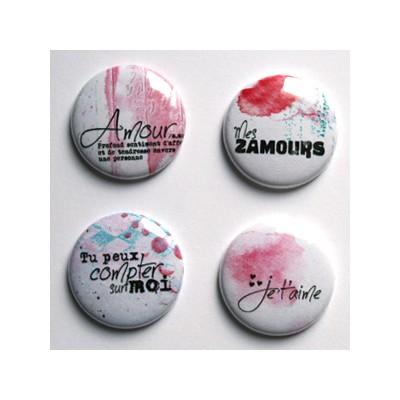 """Badges Lime Citron 1"""" - Définition Amour"""