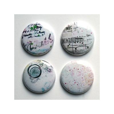 """Badges Lime Citron 1"""" - Musique"""