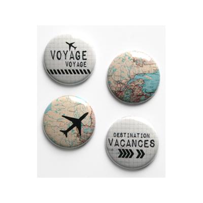 """Badges Lime Citron 1"""" - Voyage"""