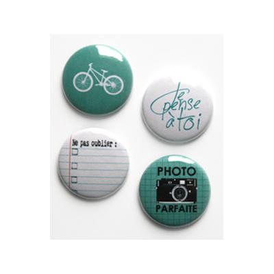 """Badges Lime Citron 1"""" - Vélo"""