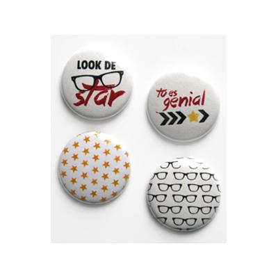 """Badges Lime Citron 1"""" - Look de Star"""