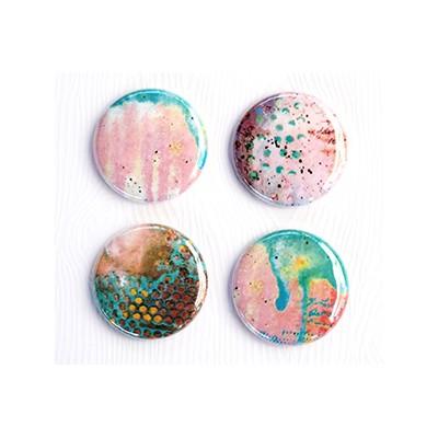 "Badges Lime Citron 1"" - Art-Rose"