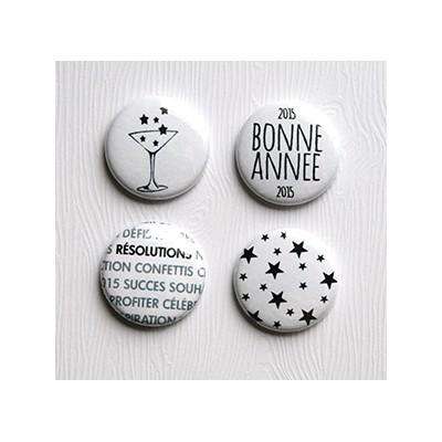 """Badges Lime Citron 1"""" - Bonne Année"""