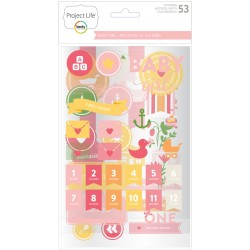 Stickers chipboards Project Life - Baby Girl