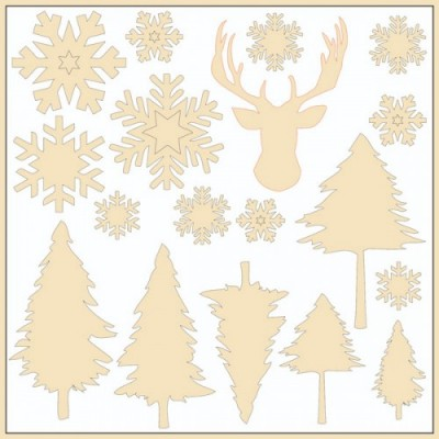 Chipboards Yuletide