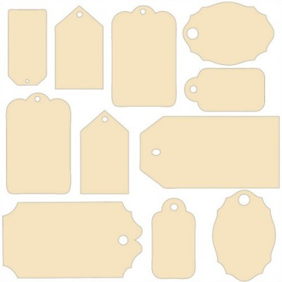 Chipboards Lost and Found - Etiquettes
