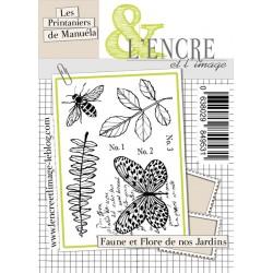 Tampons L'Encre & l'Image - Les Printaniers de Manuéla - Faune et Flore de nos Jardins