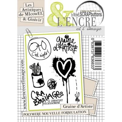 Tampons L'Encre & l'Image - Les Artistiques de MIcowEL & Ginivir - Graine d'Artiste