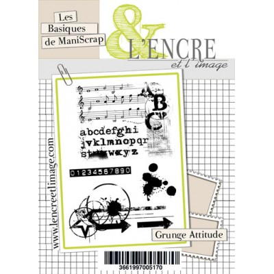Tampons L'Encre & l'Image - Les Basiques de ManiScrap - Grunge Attitude