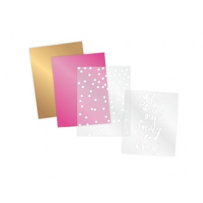 Kit Rub-ons Foil 4x8 - Forever and Ever