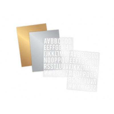 Kit Rub-ons Foil 4x8 - Alphabet