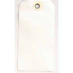 Etiquettes américaines 4x8 cm - Beige - Oeillet beige (Lot de 10)