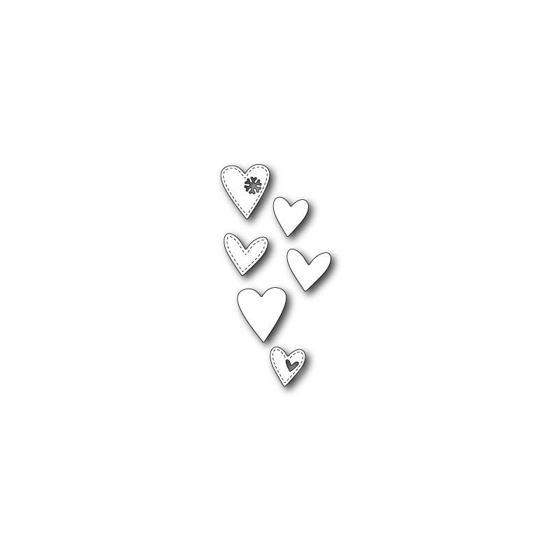 Die Poppystamps - Stitched Heart Trio