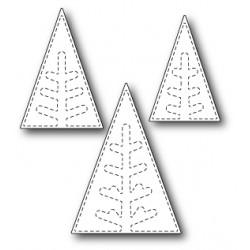 Die Poppystamps - Stitched Pine Trees