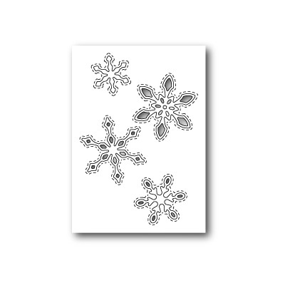 Die Poppystamps - Stitched Snowflake Cutouts