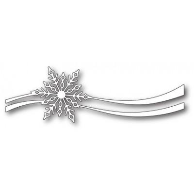 Die Poppystamps - Snowflake Ribbon
