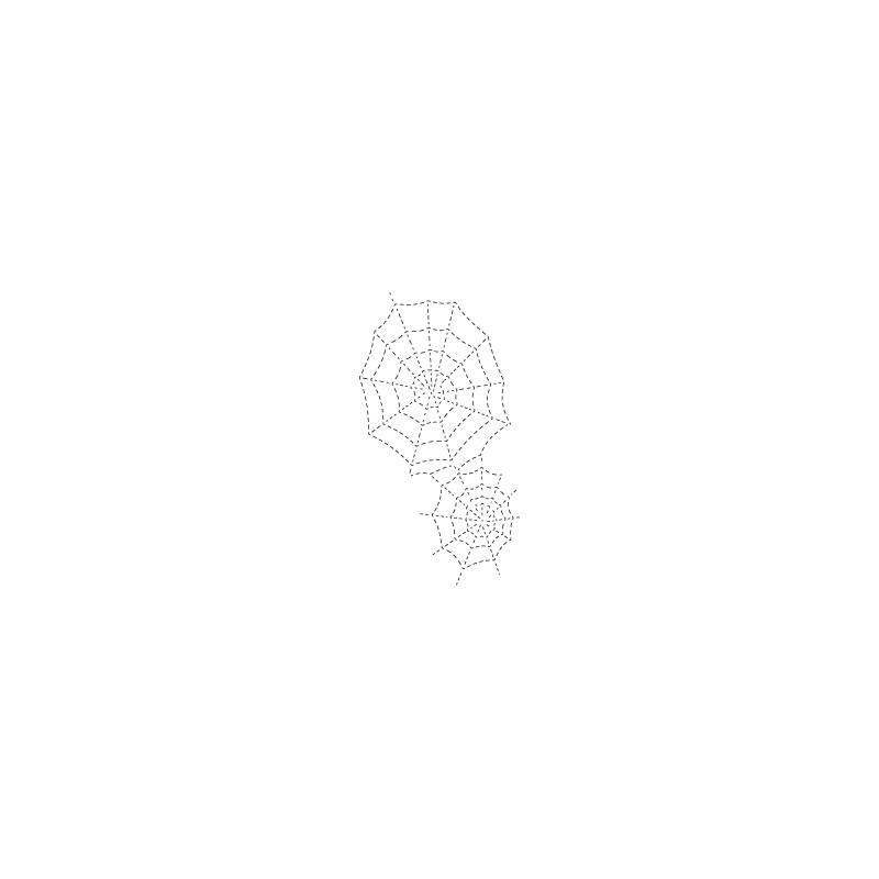 Die Poppystamps - Stitched Spider Webs