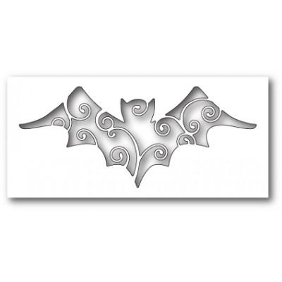 Die Poppystamps - Swirly Bat Cutout