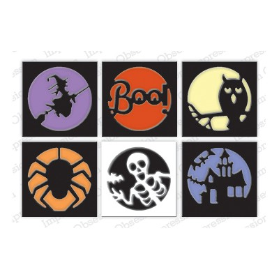 Die Impression Obsession - Halloween Cutout Circles