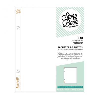 "Pochettes 6x8"" Story Book - Pleines"